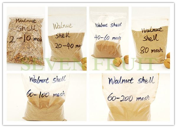 16-20 Mesh Water Treatment Crushed Nutshells Walnut Shell Particles